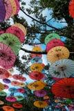 Dekoracyjny chiński parasol Fotografia Stock