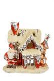 Dekoracyjny czerwony Santa domu ornament dla bożych narodzeń lub nowego roku Obrazy Royalty Free