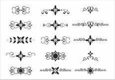 Dekoracyjny delimiter elementów oddzielacza set Zdjęcia Royalty Free