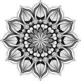 Dekoracyjny deseniowy mandala Orientalny round symetryczny ornament ilustracji