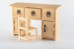 Dekoracyjny drewniany biuro Obraz Royalty Free