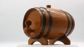 Dekoracyjny drewniany jeden bary?ki bia?y t?o 4k zdjęcie wideo