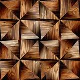Dekoracyjny drewniany wzór drewniana tekstura - bezszwowy tło - ilustracja wektor