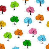 Dekoracyjny drzewny bezszwowy wzór Royalty Ilustracja