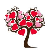 Dekoracyjny drzewo z sercami royalty ilustracja