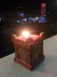 Dekoracyjny earthern garnka światło Zdjęcia Royalty Free