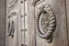 Dekoracyjny element miasta ` s metalu masywna brama Zdjęcia Royalty Free