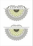 Dekoracyjny element różyczki mandala Fotografia Stock