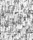 Dekoracyjny fon, biel i czerń, Abstrakcjonistyczny tło z geometrycznym wzorem krakingowa konsystencja naziemna Druku projekta tło royalty ilustracja