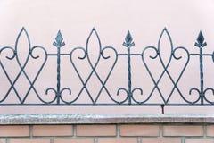 Dekoracyjny forged ogrodzenie obraz stock