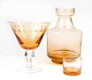 dekoracyjny glassware Fotografia Stock