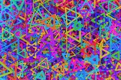 Dekoracyjny, ilustracje CGI geometryczny, wi?zka tr?jbok & gwiazda widok od wierzcho?ka, dla projekt tekstury t?a 3 d czyni? royalty ilustracja