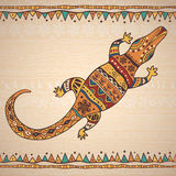 Dekoracyjny ilustracyjny krokodyl Obrazy Stock