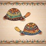Dekoracyjny ilustracyjny tortoise Obrazy Stock
