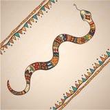 Dekoracyjny ilustracyjny wąż Obrazy Stock