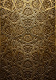 Dekoracyjny Islamski Drewniany sztuki drzwi Zdjęcie Royalty Free