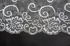 dekoracyjny izolujący koronkowy biel zdjęcie stock
