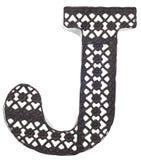 dekoracyjny j listu metal obraz stock