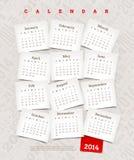 Dekoracyjny kalendarz 2014 Obraz Stock