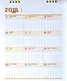 Dekoracyjny kalendarz 2018 Obrazy Stock