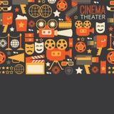 Dekoracyjny kinowy szablon Zdjęcie Royalty Free