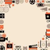 Dekoracyjny kinowy szablon Zdjęcie Stock