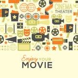 Dekoracyjny kinowy szablon Fotografia Stock