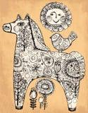 Dekoracyjny koń Obrazy Royalty Free