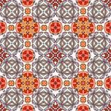 Dekoracyjny kolorowy bezszwowy wzór w mozaika etnicznym stylu Fotografia Stock