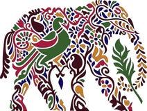 Dekoracyjny kolorowy indyjski słoń Zdjęcia Royalty Free