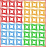 Dekoracyjny kolorowy liścia wzór fotografia stock