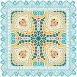 Dekoracyjny kolorowy ornament na białym tle Zdjęcie Royalty Free