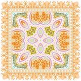 Dekoracyjny kolorowy ornament na białym tle Fotografia Stock