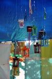 Dekoracyjny kolorowy świeczka lampion Zdjęcia Royalty Free