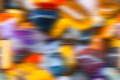 Dekoracyjny kolorowy zamazany tło Obraz Stock