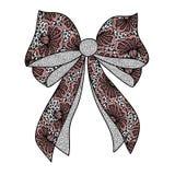 Dekoracyjny koronkowy łęk Fotografia Royalty Free