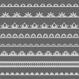 dekoracyjny koronkowy set Ilustracji