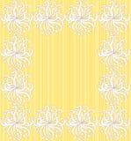 dekoracyjny kwiatów ramy przestrzeni tekst Fotografia Stock