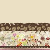 Dekoracyjny Kwiecisty Tło royalty ilustracja