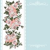 Dekoracyjny kwiecisty tło z różami royalty ilustracja