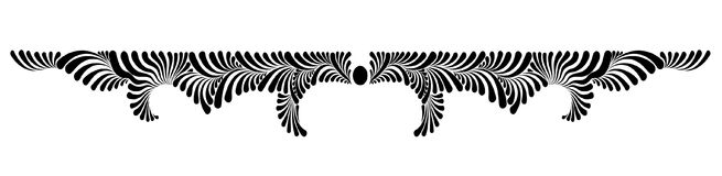 Dekoracyjny kwiecisty wektorowy monogram Obraz Stock