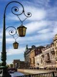 Dekoracyjny lampion w dziejowej części Petersburg Zdjęcie Stock