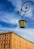 Dekoracyjny lampion w dziejowej części Petersburg Obraz Royalty Free