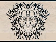 dekoracyjny lew royalty ilustracja