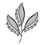 Dekoracyjny liść z ornamentem royalty ilustracja