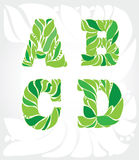dekoracyjny 4 listu od liści Obraz Stock