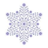 dekoracyjny lodowy płatek śniegu ilustracji