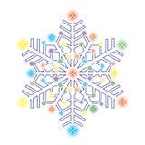 dekoracyjny lodowy płatek śniegu ilustracja wektor