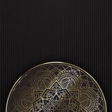 Dekoracyjny mandala tło Zdjęcia Stock