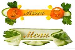 dekoracyjny menu Zdjęcia Stock